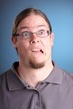Retrato do homem com cabelo longo Foto de Stock
