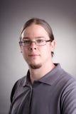 Retrato do homem com cabelo longo Imagem de Stock
