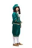 Retrato do homem da Idade Média no traje vermelho Foto de Stock Royalty Free