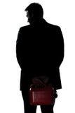 Retrato do homem da silhueta fora do gás Fotografia de Stock