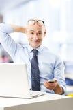 Retrato do homem das vendas Fotos de Stock