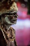 Retrato do homem de Asmat fotos de stock royalty free