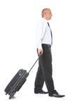 Retrato do homem de negócio com bagagem Foto de Stock Royalty Free