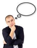 Retrato do homem de negócio de pensamento adulto Fotografia de Stock Royalty Free