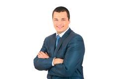 Retrato do homem de negócio de sorriso feliz Fotografia de Stock