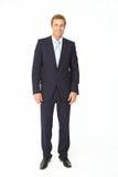 Retrato do homem de negócio no terno fotos de stock