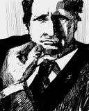 Retrato do homem de negócios ilustração royalty free