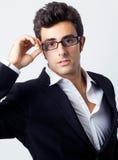 Retrato do homem de negócios atrativo Fotos de Stock Royalty Free