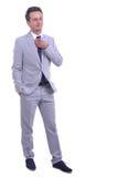 Retrato do homem de negócios atrativo novo Fotografia de Stock Royalty Free