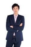 Retrato do homem de negócios bem sucedido. Isolado sobre imagem de stock