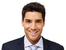 Retrato do homem de negócios de sorriso fotografia de stock