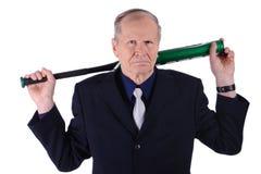 Retrato do homem de negócios irritado isolado no fundo branco Imagem de Stock Royalty Free