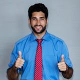 Retrato do homem de negócios latino-americano bem sucedido do moderno fotografia de stock royalty free