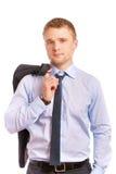 Retrato do homem de negócios novo Fotografia de Stock