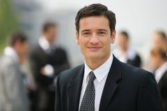 Retrato do homem de negócios novo Fotos de Stock Royalty Free