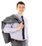 Retrato do homem de negócios novo de sorriso feliz fotografia de stock