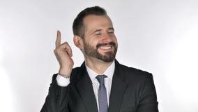 Retrato do homem de negócios de pensamento Got New Idea da barba video estoque