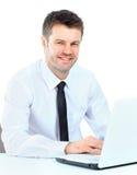 Retrato do homem de negócio seguro novo Foto de Stock Royalty Free