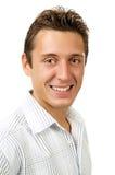 Retrato do homem de sorriso feliz Fotografia de Stock