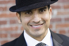 Retrato do homem de sorriso no terno e no laço Imagem de Stock