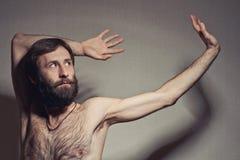 Retrato do homem do iogue fotografia de stock