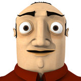 Retrato do homem dos desenhos animados ilustração stock