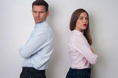 Retrato do homem e da mulher Fotografia de Stock Royalty Free