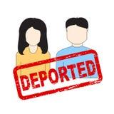Retrato do homem e da mulher com selo deportado Foto de Stock