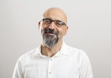 Retrato do homem envelhecido médio fotos de stock royalty free