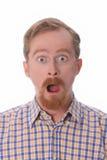 Retrato do homem espantado Fotos de Stock