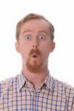 Retrato do homem espantado foto de stock royalty free
