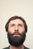 Retrato do homem farpado fotografia de stock