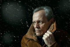 Retrato do homem idoso Imagem de Stock Royalty Free