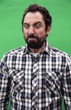 Retrato do homem insano irritado imagens de stock royalty free