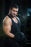 Retrato do homem muscular grande fotografia de stock