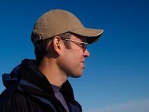 Retrato do homem novo ativo Fotografia de Stock Royalty Free