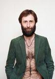 O homem com uma barba grande e os bigodes foto de stock