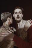 Retrato do homem novo e da mulher Fotografia de Stock
