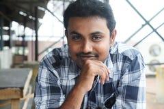 Retrato do homem novo indiano Foto de Stock