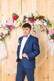 Retrato do homem ou do noivo elegante fotografia de stock royalty free