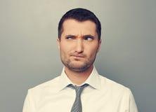 Retrato do homem pensativo Fotografia de Stock
