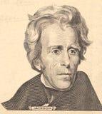 Retrato do homem político, do inventor, e do diplomata Benjamin Franklin dos E S Presidente Andrew Jackson Fotografia de Stock Royalty Free