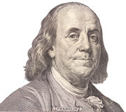 Retrato do homem político, do inventor, e do diplomata Benjamin Franklin dos E S Presidente Benjamin Franklin Imagem de Stock Royalty Free