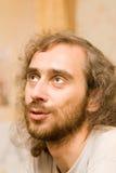 Retrato do homem que olha acima Foto de Stock Royalty Free