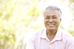 Retrato do homem sênior no parque imagem de stock royalty free