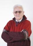 Retrato do homem superior feliz Fotos de Stock Royalty Free