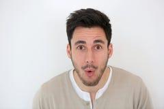 Retrato do homem surpreendido Fotos de Stock Royalty Free