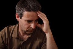 Retrato do homem triste Imagem de Stock Royalty Free
