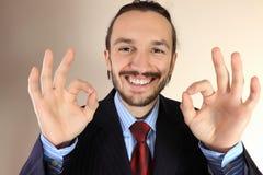 Retrato do homens de negócios bem sucedidos novos fotografia de stock royalty free