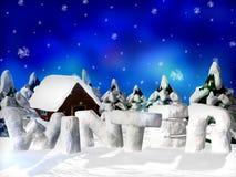 Retrato do inverno ilustração royalty free